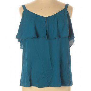 New York & Company Ruffle Sleeveless Blouse XL